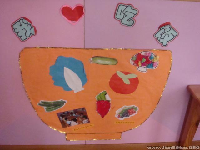 幼儿园小班墙面图片:我要吃饭图片