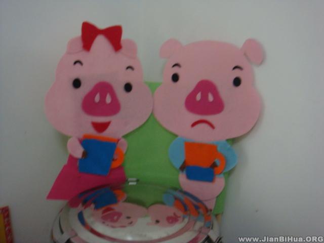 小猪头饰简笔画图片,小老鼠头饰图片简笔画