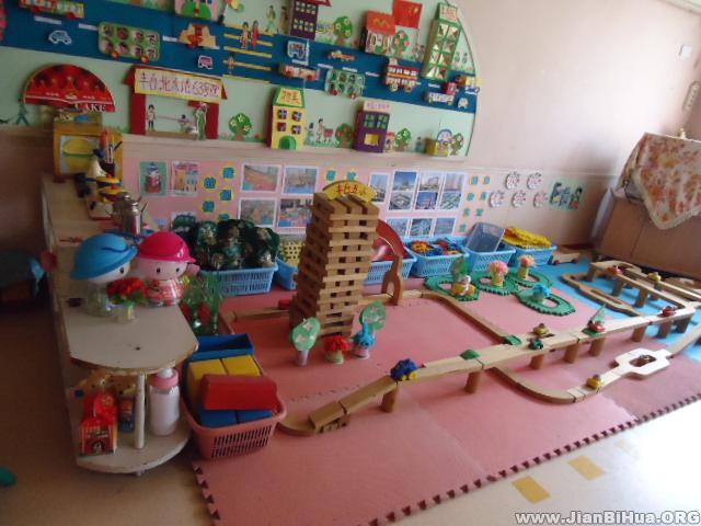 布置/幼儿园活动区布置图片:幼儿建筑区布置