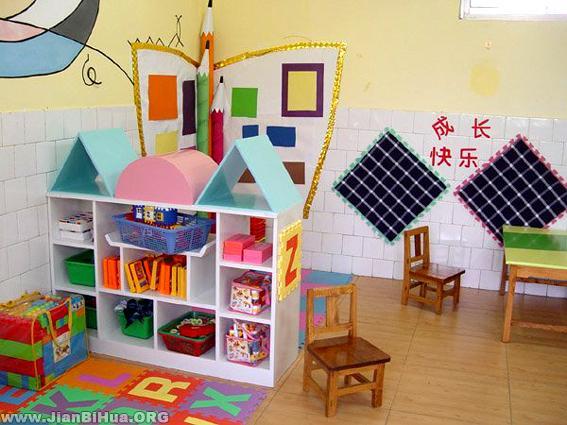 幼儿园大班美工区 成长快乐