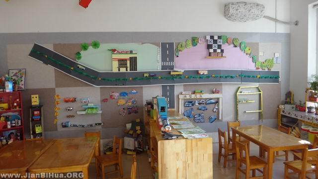 幼儿园墙面设计图片:认识车辆