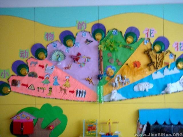幼儿园墙面设计图片 小动物的花花衣