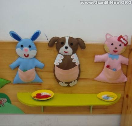 幼儿园环境布置图片; 幼儿小动物简笔画图片图片