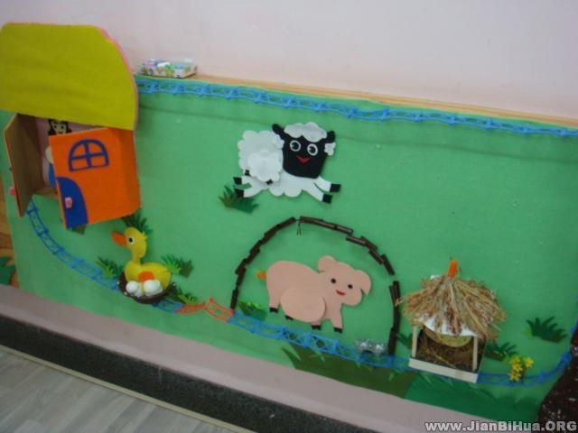 幼儿园墙面设计图片:小动物的家(第3张)