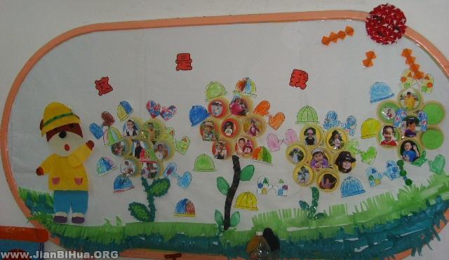 幼儿园墙面设计图片:这是我-幼儿园墙面设计