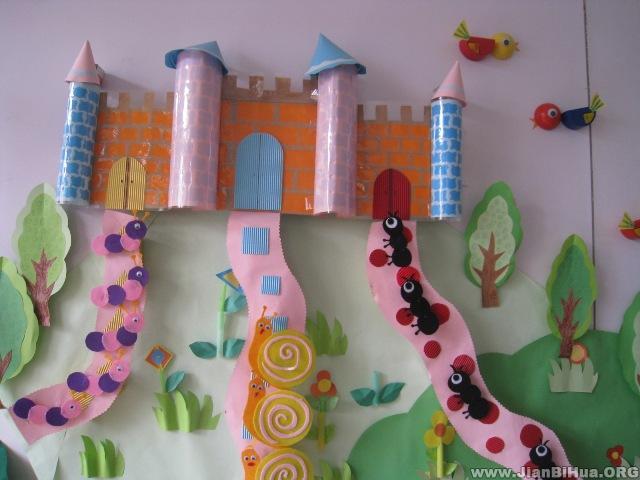 幼儿园墙面设计图片:小动物的家