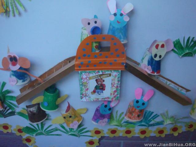 com, 绿色城市大班墙面布置,由幼儿园布置                    面布置