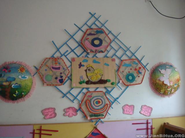幼儿园墙面布置图片 艺术墙饰
