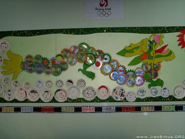幼儿园中班墙面图片:龙