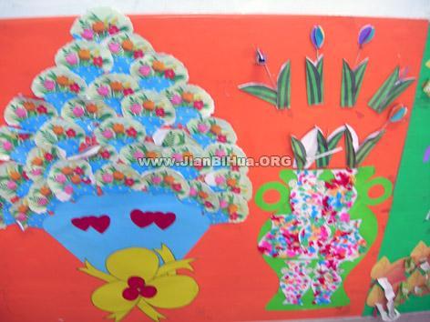 幼儿园中班红花栏展示_设计图分享