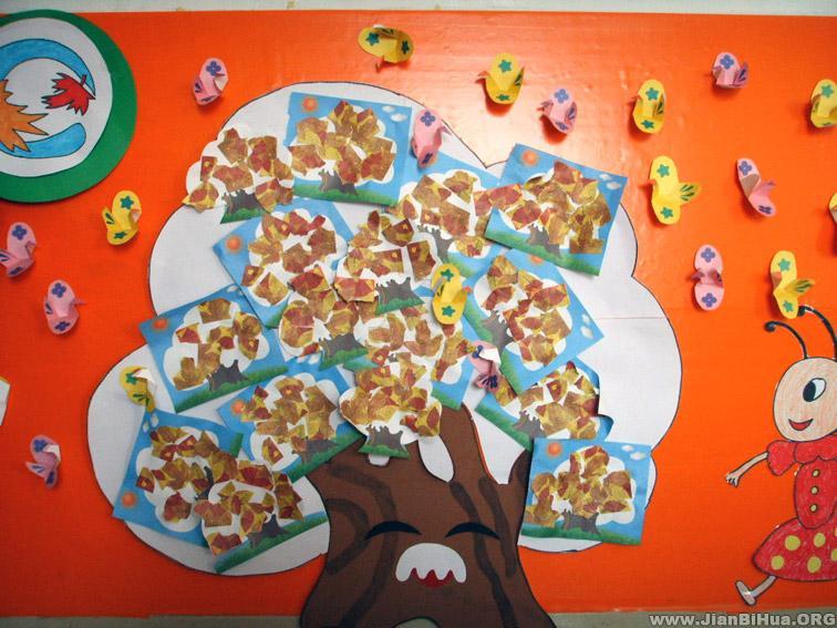 幼儿园小班墙面布置图片:大树与小鸟