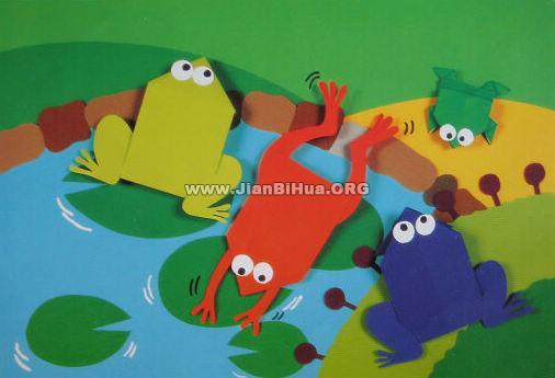 幼儿园小班夏天墙面设计:池塘乐