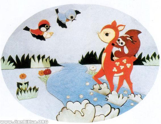 简笔画 幼儿园环境布置图片
