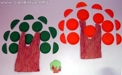 幼儿园大班墙面布置 剪纸画