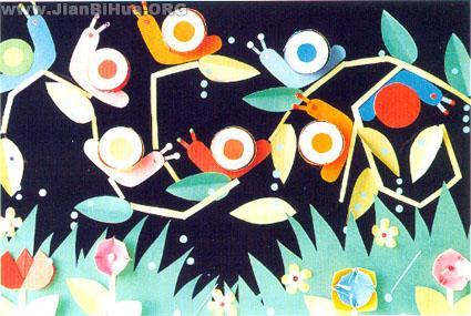 幼儿园墙面布置图片:蜗牛的聚会