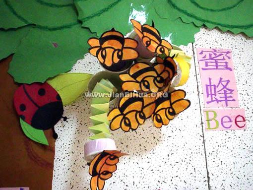 布置 幼儿园 蜜蜂/幼儿园主题墙饰布置:蜜蜂