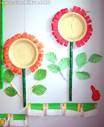 幼儿园墙饰布置图片主题活动地球家园