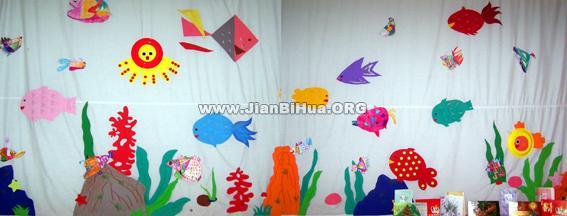 幼儿园室内手绘墙图片