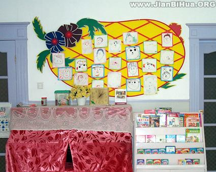 幼儿园墙面设计图片 我们班的小朋友