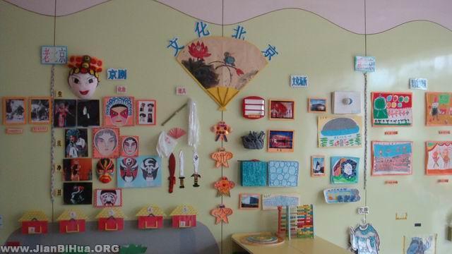 幼儿园小班主题墙布置 北京文化