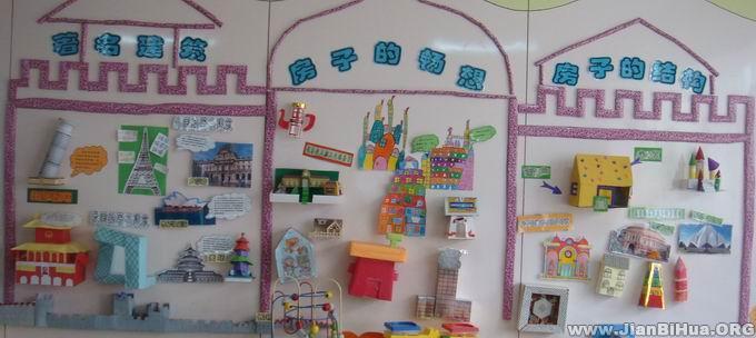 幼儿园小班主题墙布置:房子