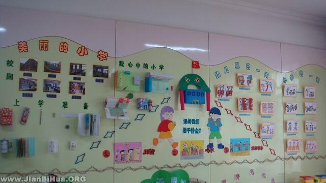 幼儿园主题墙布置:我要上学了