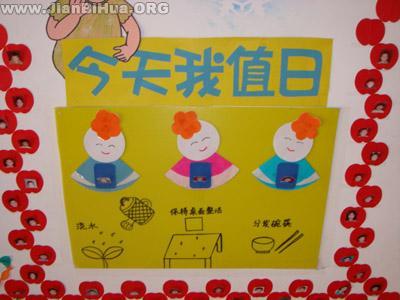 幼儿园大班主题墙饰图片:值日区布置