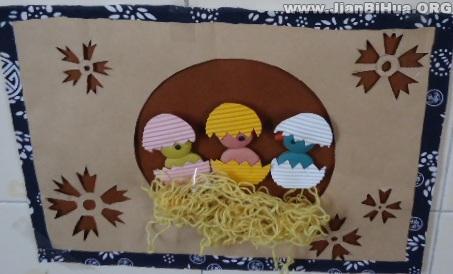 鸟窝简笔画-置 手工制作的鸟巢