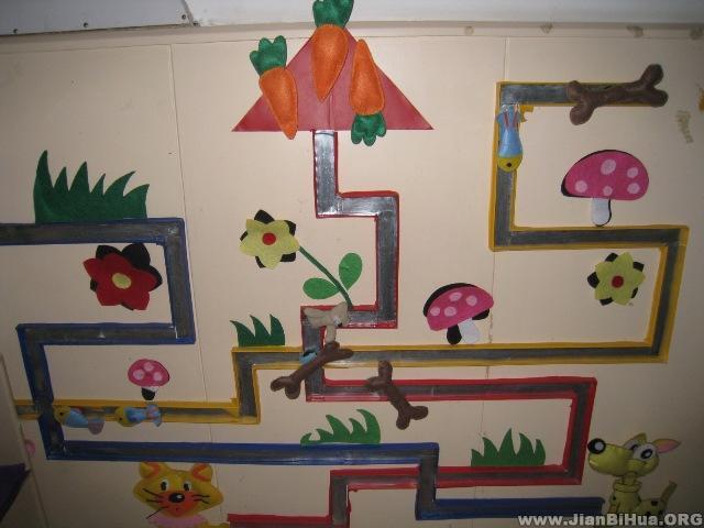 纸杯人物图片_幼儿园活动室布置图片:喂动物布置