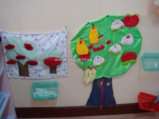 班活动室布置 丰收的果树