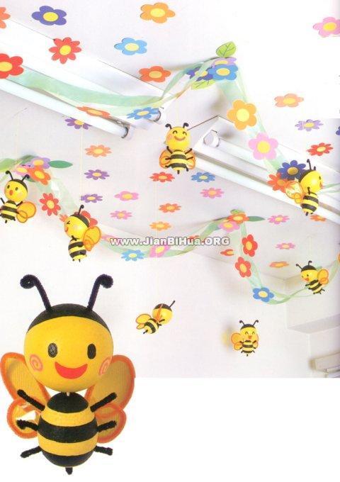 幼儿园 布置/幼儿园大班吊饰布置:小蜜蜂