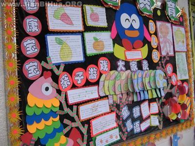 幼儿园中班家园栏图片:家园共育