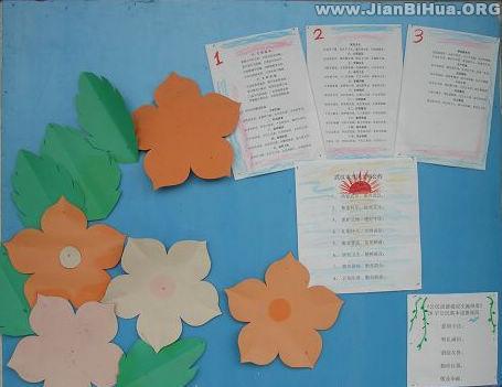 幼儿园家园联系栏:简洁布置示例