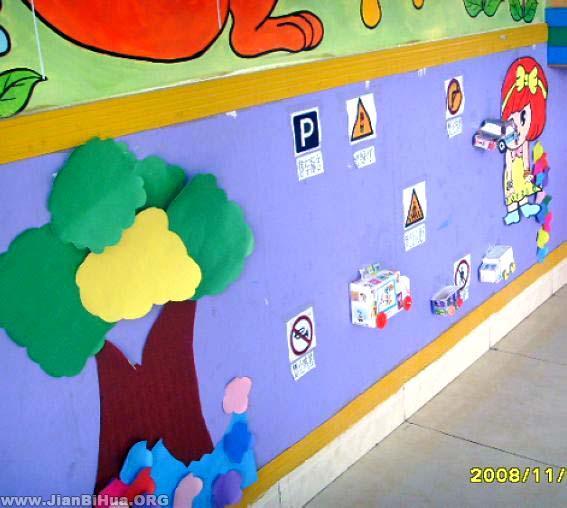 幼儿园走廊布置图片_第4页_画画大全图片