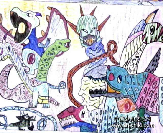 恐龙世界儿童画5幅 第4张