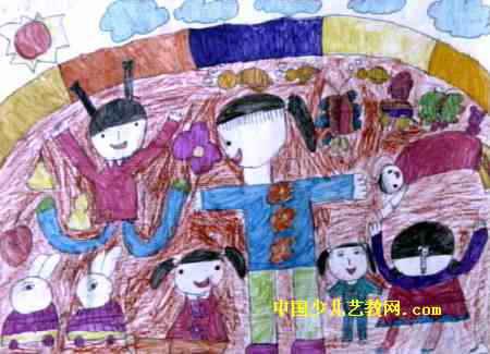 我蹦得高儿童画