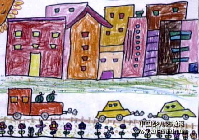 家园水彩儿童画_图片素材