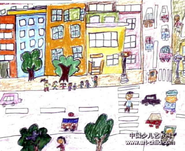 我的家乡儿童画7幅 第5张