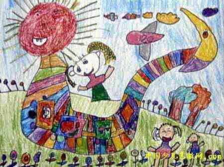 支援俄罗斯大学生儿童画