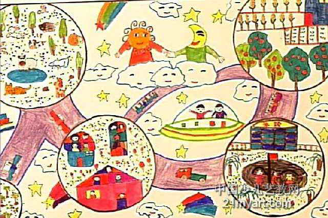 画一幅我的房间简笔画-假日的我儿童画,此幅水彩画大小为426x640像素,作者胡文博,来自