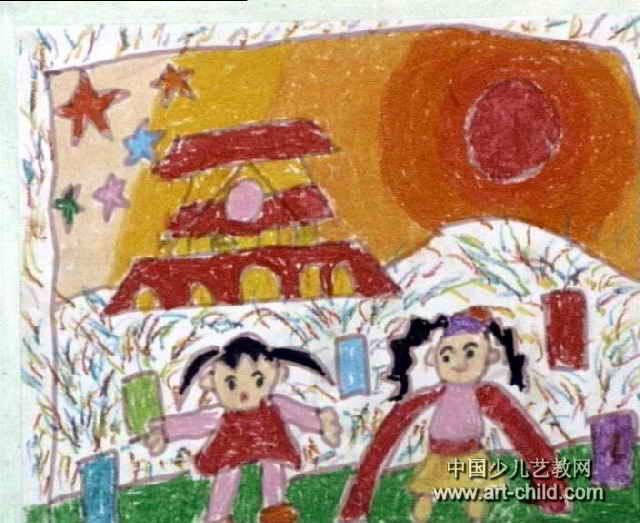 我爱北京天安门儿童画图片