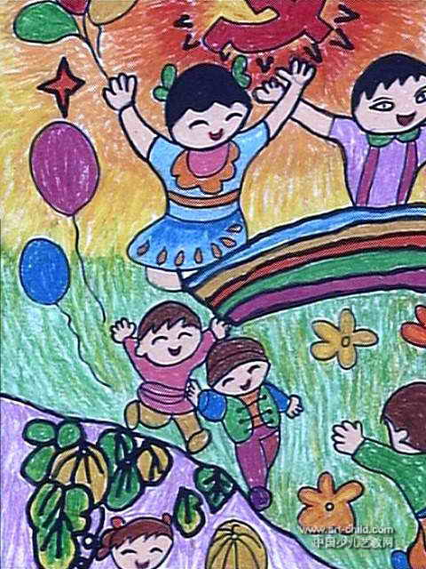儿童画,此幅水彩画大小为640x480像素,作者赖琦颖,来自泉州市鲤城区