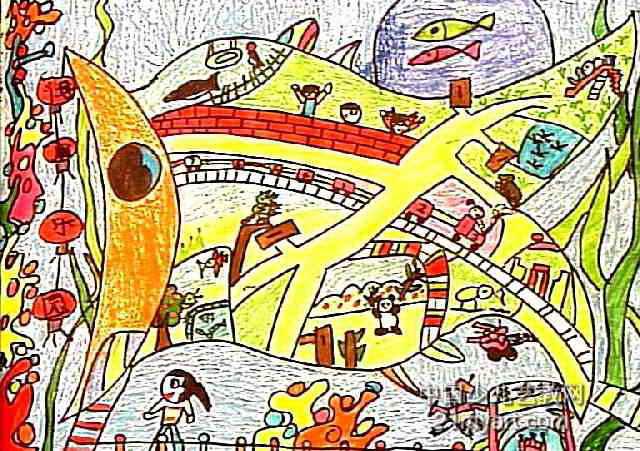 动漫手绘彩色街景