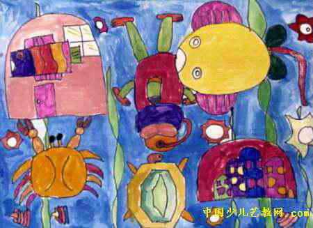 海底世界手抄报图片,海洋生物资源 海洋矿物资源 三年级海底世界手