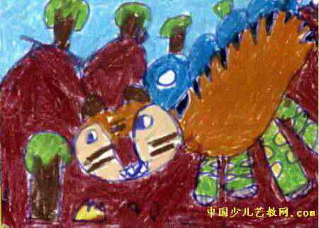 大老虎儿童画