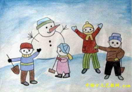 我喜欢的冬天儿童画