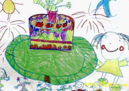 生日蛋糕儿童画