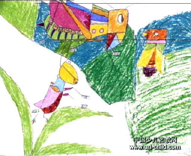 秋虫乐队儿童画作品欣赏
