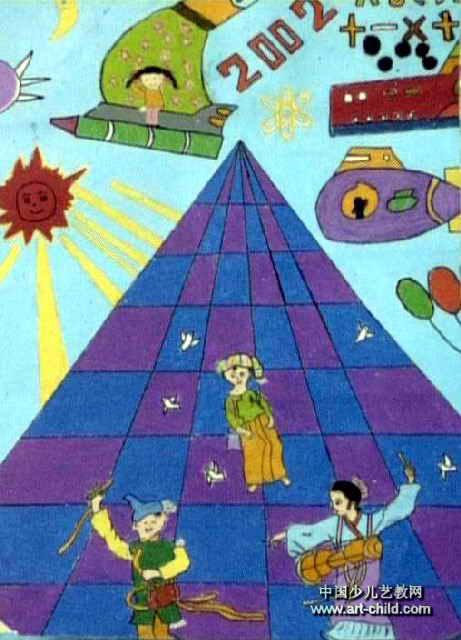 科技之路儿童画作品欣赏