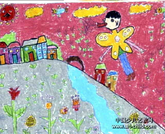 播种儿童水彩画属于水粉画,大小为523x640像素,作者金春香,来自朝鲜族